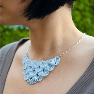 Unique Knitted Necklace